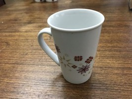 Starbucks Holiday Coffee Mug 12 oz. Snowflakes Poinsettias Red Gold 2013 - $10.25