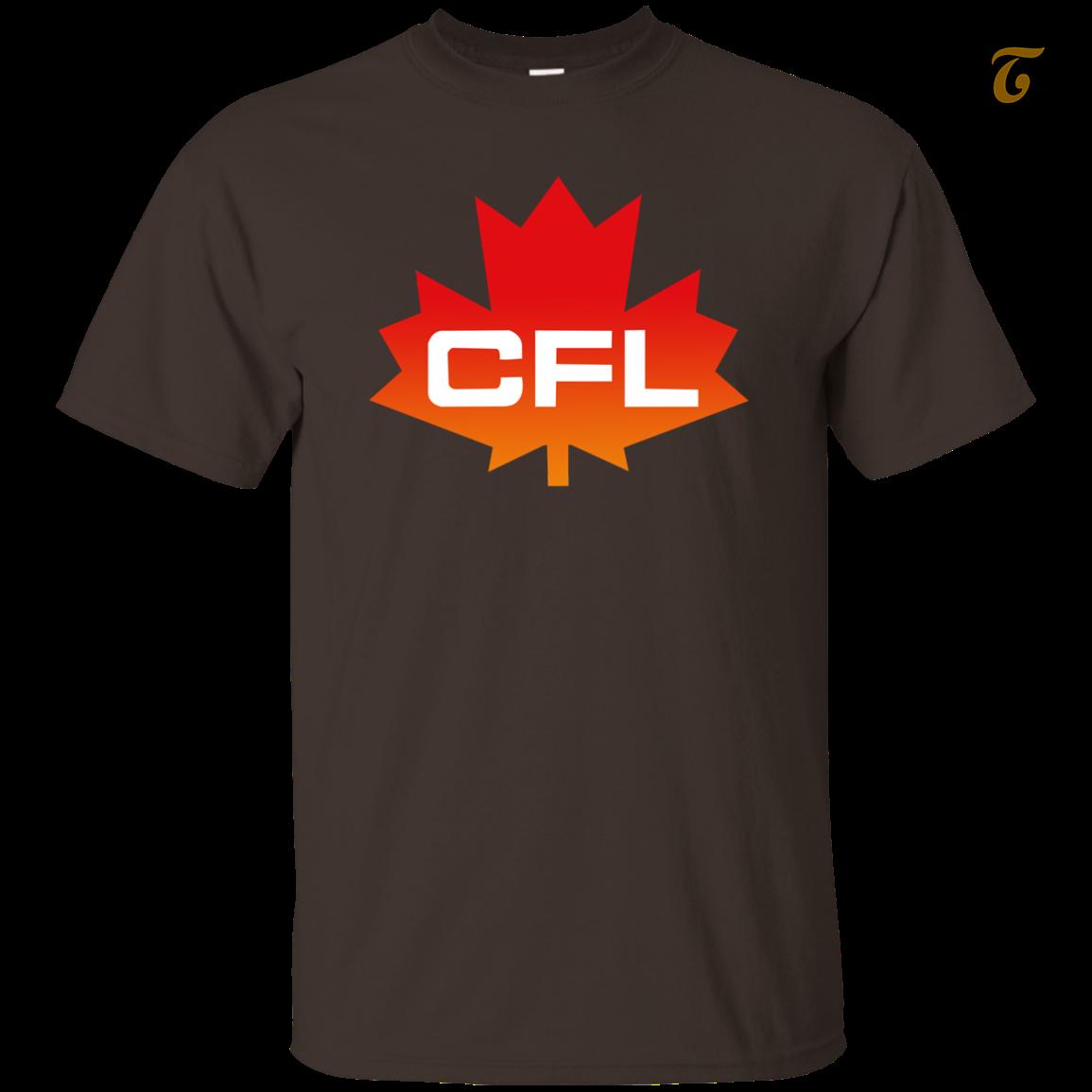 Cfl  logo  canadian  football  league  men s t shirt   dark chocolate