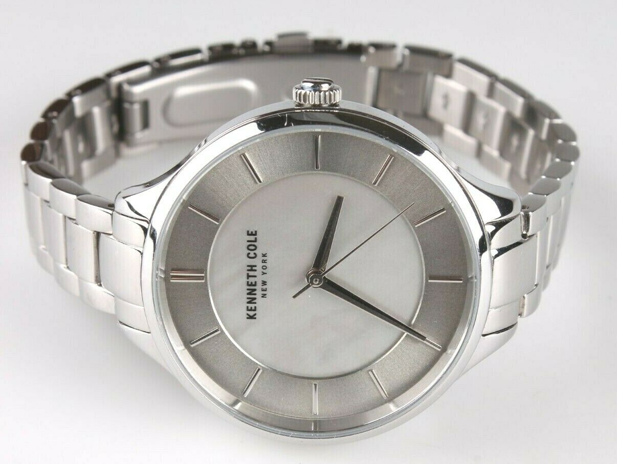 Kenneth Cole KC50017001 Women's 35mm Stainless Steel Watch MOP Dial $125