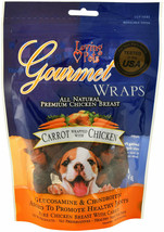 Gourmet Wraps For Dogs Natural Vitamin Health Resealable Bag Carrot Chic... - $16.68