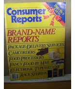 Consumer Report November 1987 Brand-Name Reports Rack Stereos, Camcorders - $8.09