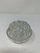 Reims Made in France 19 Chamber Art Glass Flower Frog Domed Large - $29.69