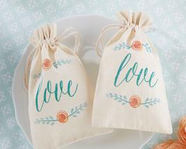 Spring Botanical Garden Teal Love Floral Muslin Bridal Shower Wedding Fa... - $104.45+