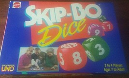 Skip Bo Dice Family Board Game 1995 Mattel Ages 7 to Adult 100% Complete  - $18.81