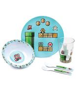 Nintendo Super Mario Bros. Melamine Mealtime 5 Piece Set Blue - $30.98