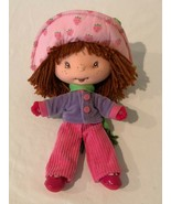 "Strawberry Shortcake Cloth Plush Doll 10.5"" Hat Jacket Top Pants Outfit ... - $14.99"
