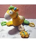 Gund Baby Soft Toy Hopscotch Giraffe Plush Rolly Polly Corduroy Dots Mirror - $19.80