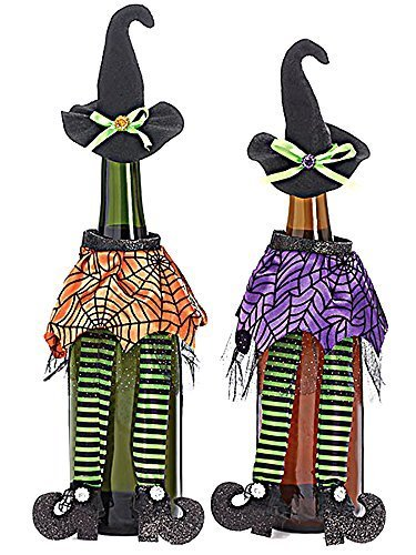 HALLOWEEN PARTY DECOR SUPPLIES WITCH WINE BOTTLE COVER DECOR