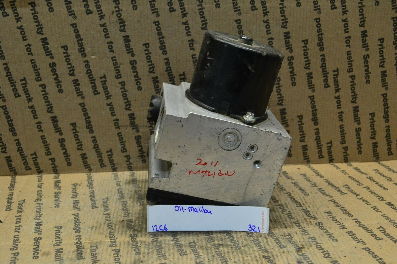 Primary image for 2011 Chevrolet Malibu ABS Pump Control OEM 20908731 Module 321-12C6