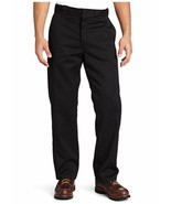Dickies Mens Original Fit 874 Work Pant Black 34W x 28L Wrinkle Resist N... - $32.71