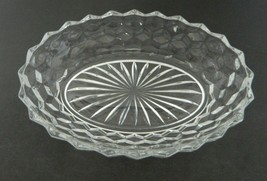 Fostoria American Line Oval Bowl 24 Rays Saw Tooth Edge  8 3/4 Inch - $18.69