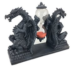 Mythical Fantasy Double Guardian Stone Dragon Sandtimer Hourglass - $29.69