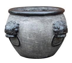 wholestoreSALE Chinese Oriental Gray Black Stone Round Garden Pot Plante... - $3,112.00