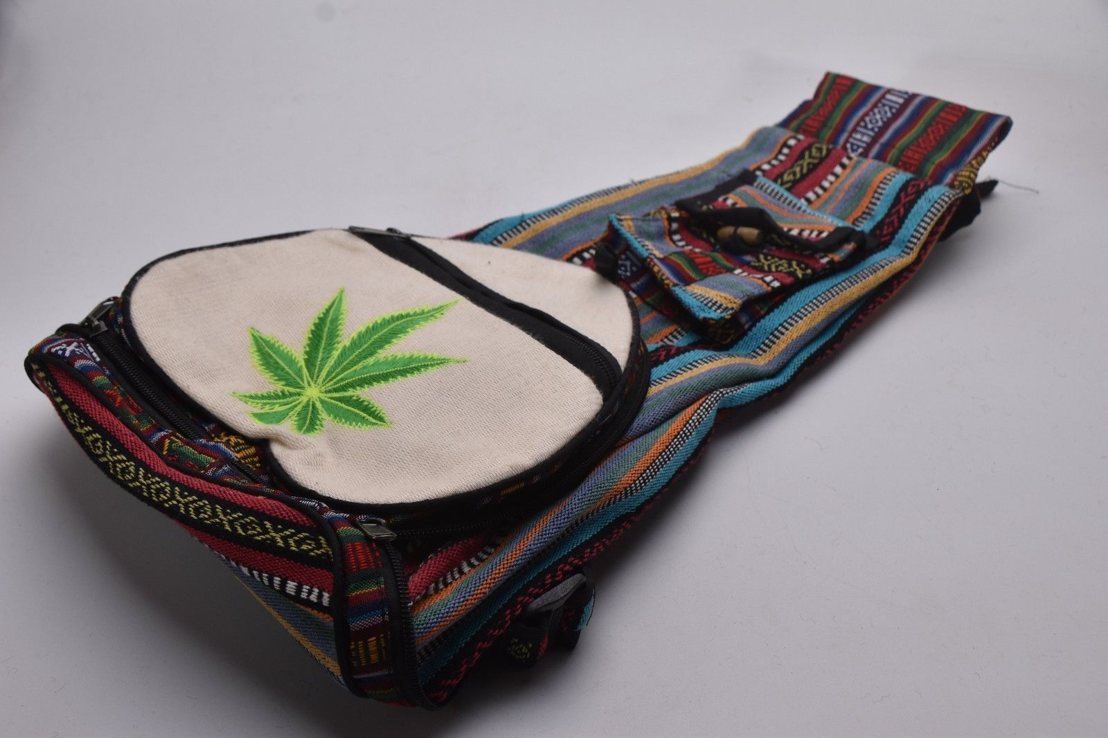 Carry Bag Heart Shape Handmade Flowergreen colour Cotton MAGIC bag Made in Nepal