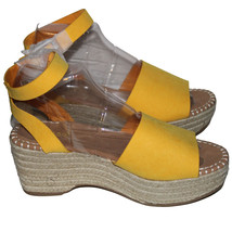 Bamboo Womens Tradition-01 Ankle Strap Wedge Sandal NWOB (Amber Yellow, 10) - $14.00