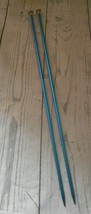 "Boye  Size 6 Pair Blue Tone Aluminum 13 3/4""  Single Point Knitting Need... - $9.46"