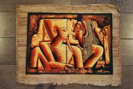 Unique Large Signed Handmade Papyrus Egyptian Queen Cleopatra Painting..... - $34.65