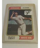 1974 Topps #582 Bucky Dent RC : Chicago White Sox - $4.70