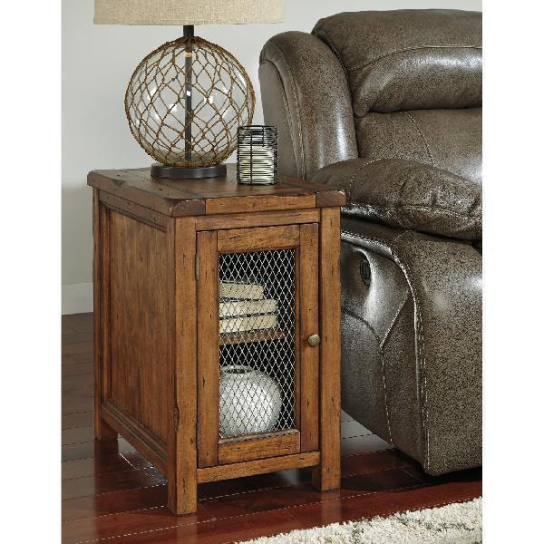 Pine Wood Chair Side/End Table Metal Grill And 50 Similar Items