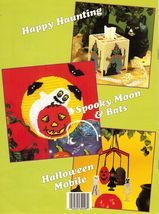 Plastic Canvas Halloween Tissue Cover Screen Windsock Hanging Mobile Jar Pattern - $12.99