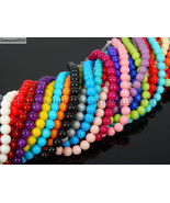 Czech Opaque Coated Glass Pearl Round Beads 16'' 4mm 6mm 8mm 10mm 12mm 1... - $0.98+