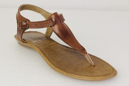 womens 582 T Strap style real leather brown huarache sandal ankle buckle - €32,40 EUR