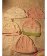 INFANT GIRLS BABY CAPS-CARTERS-JUST 1 YEAR-CHILDREN PLACE-BABY OWN-BABY ... - $9.99