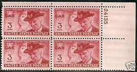 1949 3cent #983, 984, 985 Plate Blocks of 4 unused * - $5.39