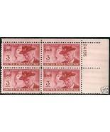 1949 3cent #983, 984, 985 Plate Blocks of 4 unused * - $5.39