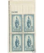 1950 3cent #989, 990 Plate Blocks of 4 unused * - $3.43