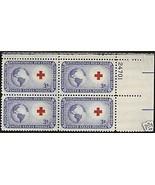 1952 #1014, 1015, 1016 Plate Blocks of 4 unused * - $4.41