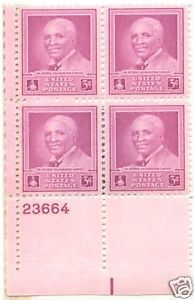 1948 3cent #953 Plate Block of 4 unused