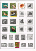110 Poland 1966 -1969  stamps - $9.79