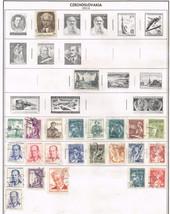 120 Czechoslavakia 1953-1960 stamps - $9.79