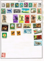 124 New Zealand 1967-1972 stamps including early airmail/official - $9.79