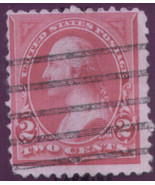1894 #250 2cent unwatermarked Carmine used - $1.23
