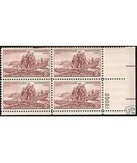 1954/55 #1062, 1063, 1072 Plate Blocks of 4 unused * - $6.62