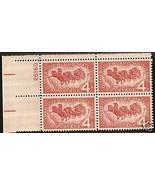 1958 #1119,1120, 1122  Plate Blocks of 4 unused * - $4.41