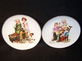 """2 Norman Rockwell 6"""" collector plates Cobbler/Toymaker - $10.77"""
