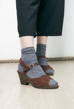 70s vintage brown leather sandals - $29.19