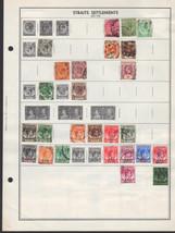 25 Strait Settlements 1900 - 1948 stamps - $2.93