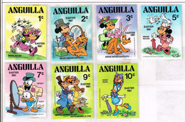 22 Anguilla stamps 1973-1984 - walt disney mickey mouse - $9.79
