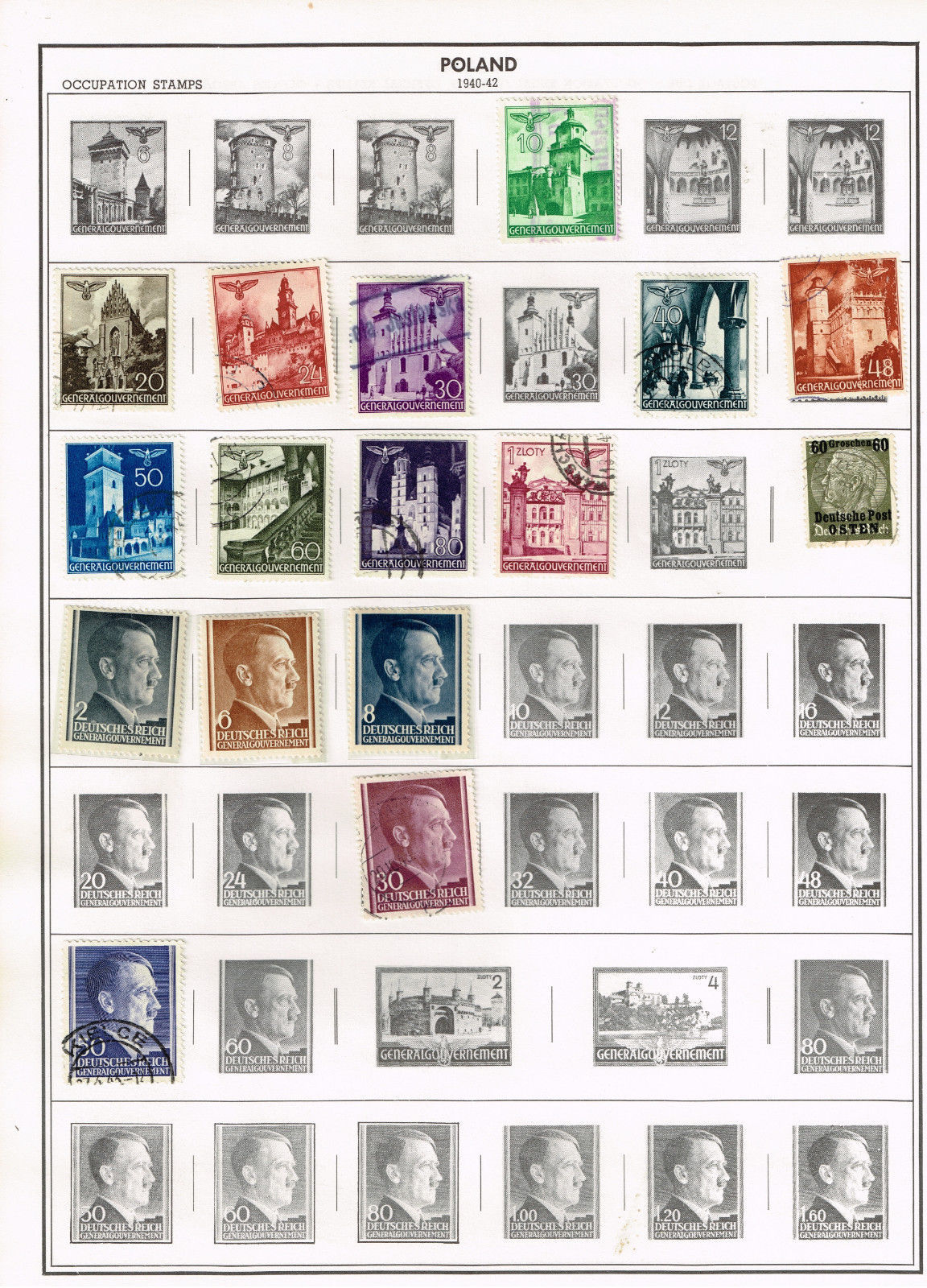 31 Poland 1940-1944  stamps - occupation