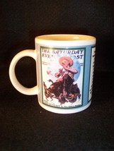Norman Rockwell Springtime ceramic coffee cup - $7.83