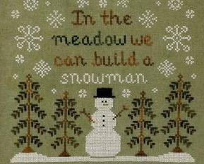 In The Meadow christmas holiday cross stitch chart Country Cottage Needleworks