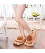 Furry Plush Slipper Costume Flip Flop Soft Warm... - $13.85