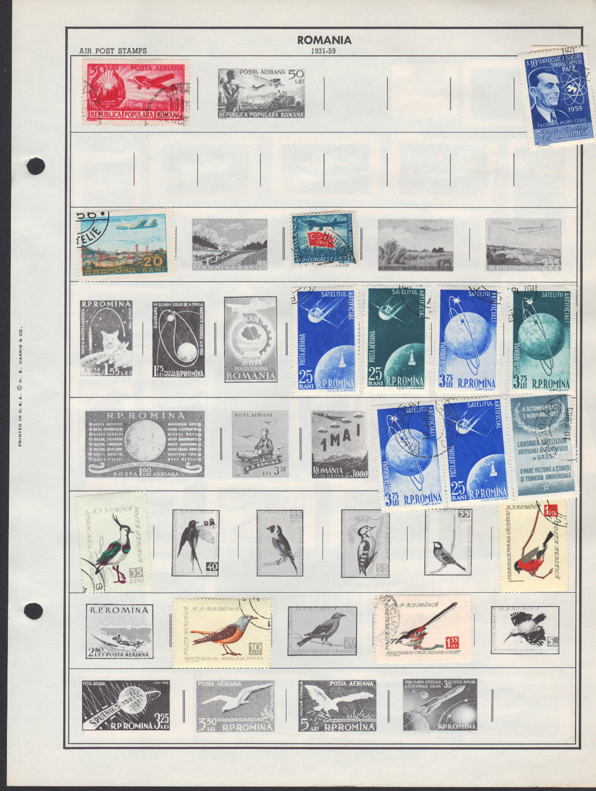100+ Romania 1940-1970 semi-postal / airmail stamps