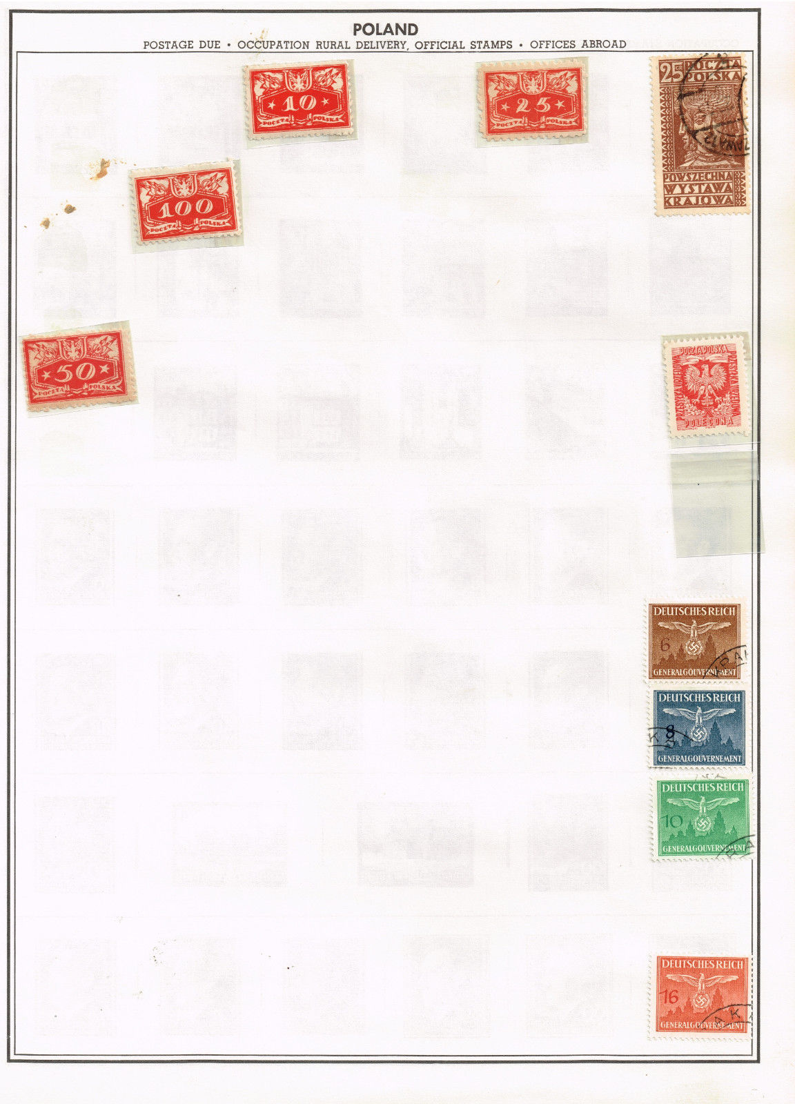 38 Poland   stamps - airmail / semi-postal / government