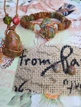 Unakite Necklace, Bracelet, and Earring Set - $65.00