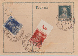 GERMANY 1947 HEINRICH VON STEPHAN POSTAL CARD - $3.43